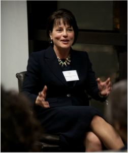 Christine Brown-Quinn speaking at a women's event at George Washington University